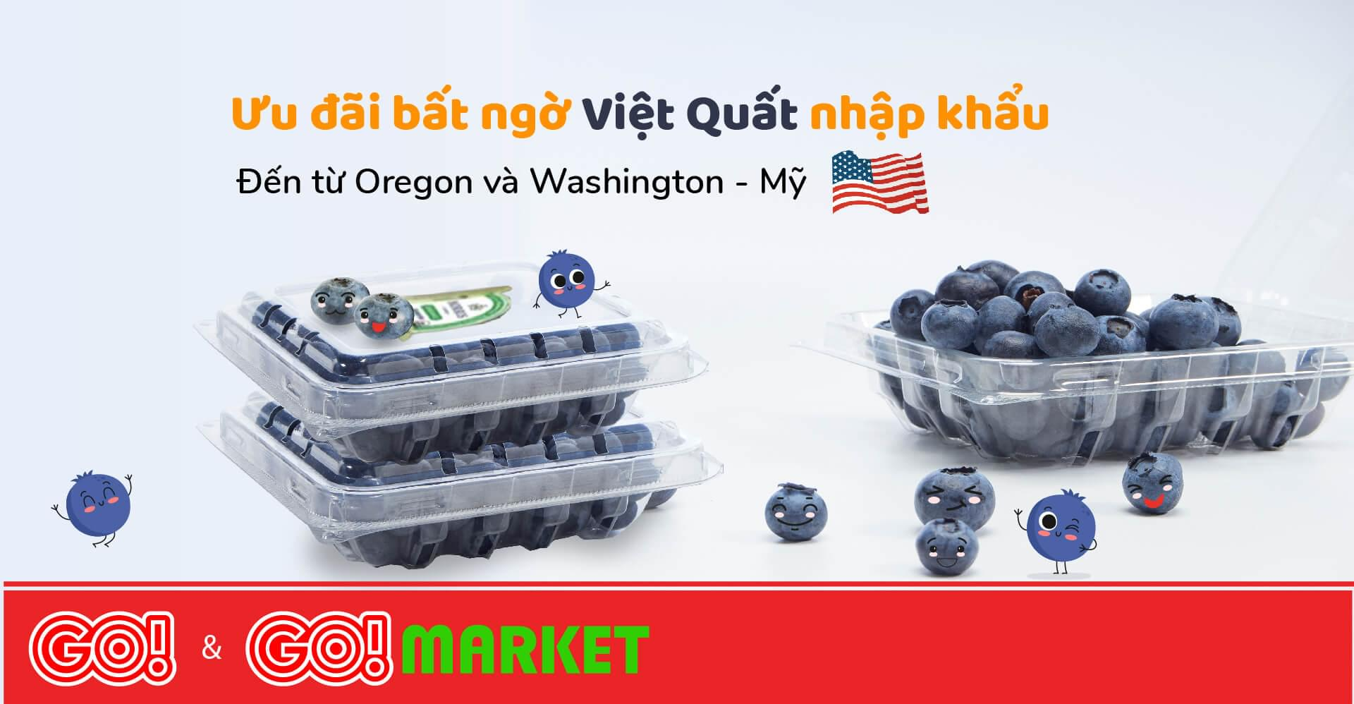 Delicious blueberries imported straight from the US - only at GO!