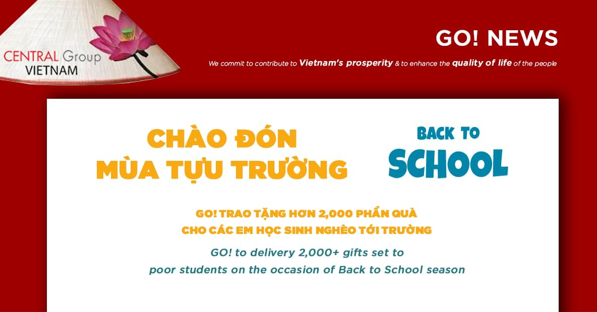 An exciting back-to-school season with more than 2,200 gift sets from Central Group Viet Nam to poor aspiring students