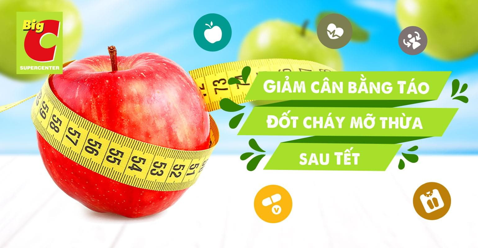 Lose weight after Tet: an apple a day cuts the belly fat away