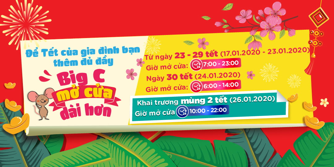 Big C ANNOUNCES THE TET HOLIDAY AND RE-OPENING CALENDAR IN 2020