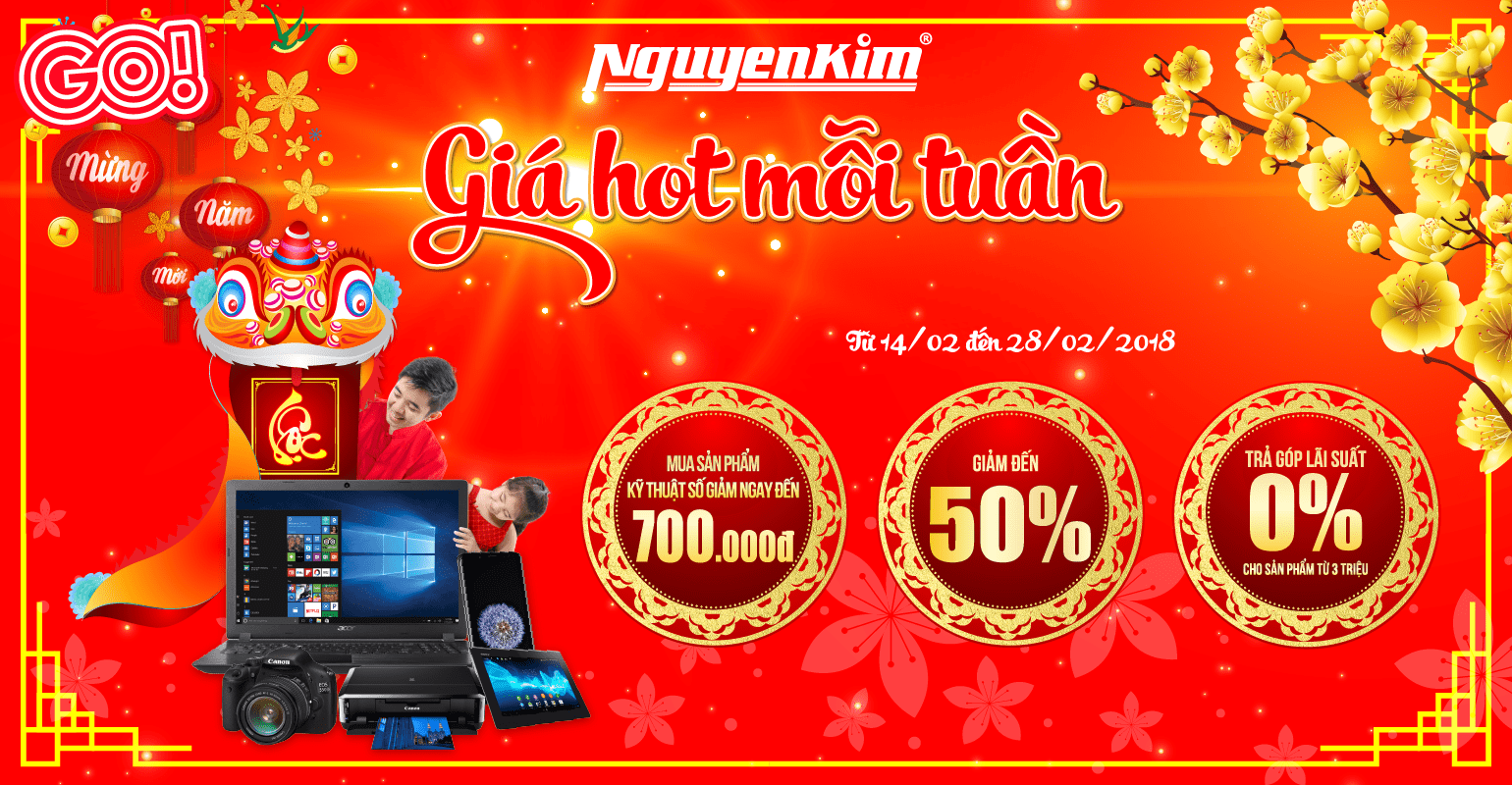 Nguyen Kim promotion at GO! My Tho – Weekly hot prices