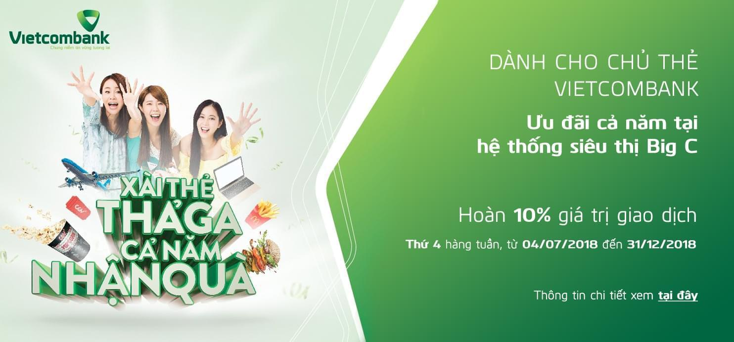 Enjoy up to 1.000.000 dong cashback every Wednesday with Vietcombank